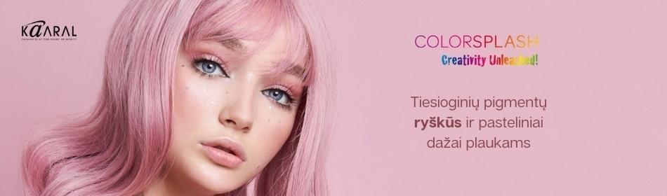 COLORSPLASH - tiesioginių pigmentų ryškūs dažai plaukams