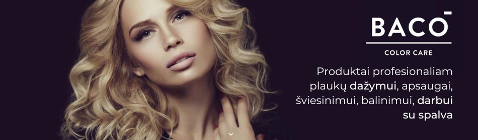 BACO dažai, oksidantai, šviesinimo ir apsaugos produktai profesionalams
