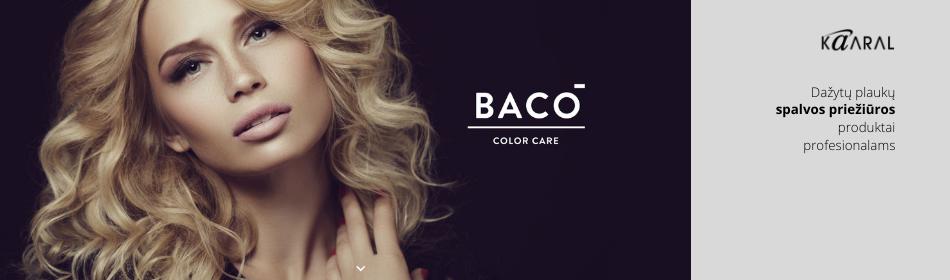 BACO COLORPRO ir BLONDE ELEVATION - dažytų plaukų priežiūros produktai profesionalam