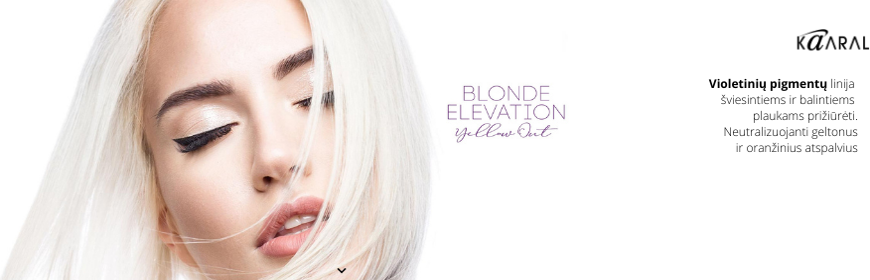 BLOND ELEVATION - YELLOW OUT - šviesintų, balintų bei žilų plaukų priežiūros linija [N A U J I E N A]