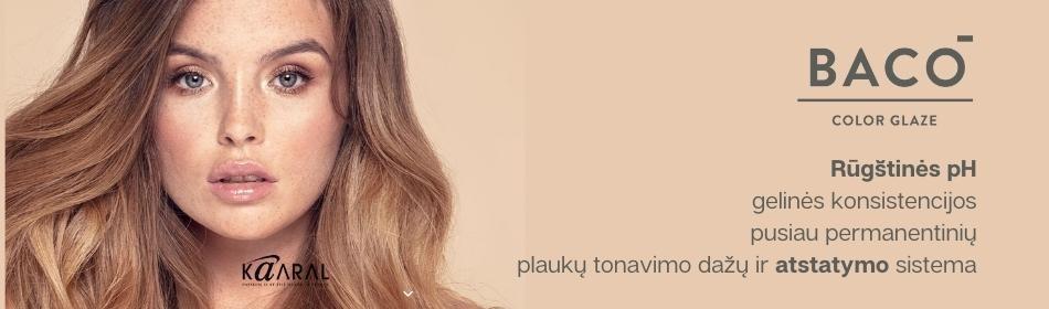 BACO COLOR GLAZE - rūgštinės pH geliniai beamoniakiai pusiau permanentiniai plaukų tonavimo dažai  - JAU LIETUVOJE!